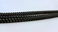 "MENS SOLID HEAVY BLACK 6mm THICK 36"" STAINLESS STEEL FRANCO CHAIN NECKLACE"