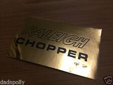 RALEIGH CHOPPER MK 2 SEAT PLATE DECAL - SHINY GOLD - CHOPPER SEAT STICKER