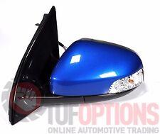 Ford FG & FGX Falcon LH Door Mirror Temp & Blinker KINETIC BLUE 05/08-10/16
