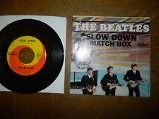 "BEATLES - MATCH BOX SLOW DOWN - 5255 Vintage East Coast Sleeve - 7"" 45RPM"