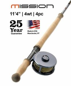 """Mission Two-Handed Spey Rod, 4-Weight 11'4""""   Made in the USA   25 Year Warranty"""