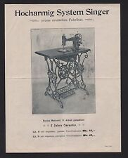 HAMBURG, Werbung 1904, The Singer Manufacturing, Nähmaschine Grimme, Natalis &Co