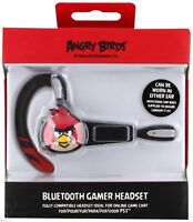 Angry Birds Wireless Headset Sony PlayStation 3 Bluetooth Gamer PS3 Black NEW