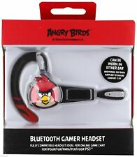 Angry Birds Bluetooth Gamer Wireless Headset Sony PlayStation 3 PS3 Black NEW