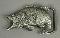 VINTAGE 1979 BIG MOUTH BASS Indiana Metal Craft Fly Fishing BELT BUCKLE