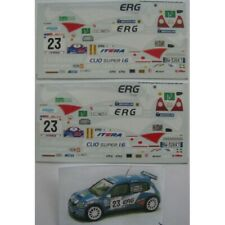 1:43 decal Racing43:Renault Clio S1600-ERG rally Mille Miglia 2004-Longhi