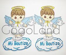 10 Baby Boy Baptism Baby Boy Hangable Foam Decoration Bautizo Boy Favors Blue