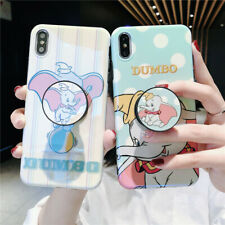 For IPhone 11 Pro XS Max XR X 7 8+ Cute Cartoon Dumbo Elephant Stand Holder Case