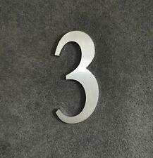 Zahl 3 Metall Edelstahl Zahlen Hausnummern Schilderbeschriftung Schriftzüge 4cm