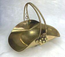 Collectible Brass Basket Centerpiece Made in Italy Fruit Basket Flower Basket
