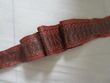 Real Cobra King Snake Skin Hide Soft Tanned Orange Snakeskin Patterned Leather