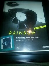 Rainbow Bent Out Of Shape Rare Promo Poster Ad Framed! Printed Once!
