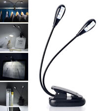 LED Desk Lamp Portable USB Rechargeable Light Bed Table Reading Travel Clip