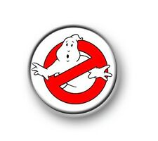"""GHOSTBUSTERS / 1"""" / 25mm pin button / badge / film / movie / comedy / 1980's"""