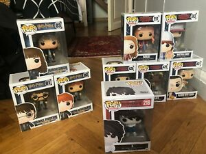 funko pop! set: harry potter, death note, stranger things