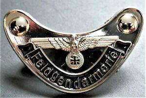 WW2 GERMAN MILITARY  BADGE EAGLE AND IRON CROSS F/GENDARMERIE REPRO NICE
