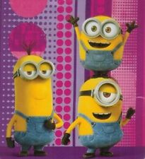 New Pink Purple Minions Despicable Me Plush Fleece Throw Blanket Movie Girl Gift