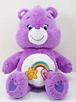 "Care Bears Friends Bear Purple Soft Stuffed Toy 20"" Plush 2016"