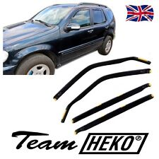 DME23227 MERCEDES ML W163 1998-2004 WIND DEFLECTORS 4pc HEKO TINTED