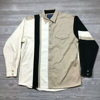 Wrangler Western Shirt Colorblock Pearl Snap Cowboy Men's Sz. L L39