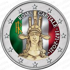 2 EURO ITALIA 2021 - ROMA CAPITALE FDC COLORATO - SUBITO DISPONIBILE!!!