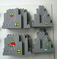 LEGO :  LOT DE 4 MURS GRIS FONCE