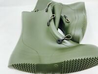 US Military rubber protective chemical biological mud boots green combat new