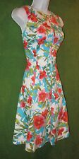 American Living by Ralph Lauren Blue Multi Floral Cotton Work Dress 8 $94