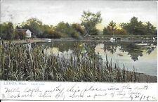 Laurel Lake, Lenox MA Postcard used 1906