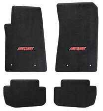 NEW! Ebony Floor Mats 2010-2015 Camaro Embroidered Logo SS in Red Full set of 4