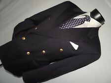 Gieves & Hawkes men's Double Breasted 100% wool Blue blazer jacket 40 S
