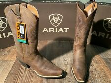 Ladies Roundup western fashion boot by Ariat. D toe