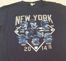New York Yankees NYY 2014 Starting Lineup Roster T Shirt Sz. S