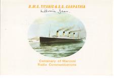 Titanic Survivor MIllvina Dean 4x6 Autographed Postcard Number 3 of 100