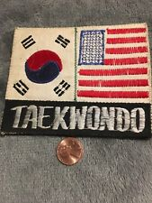 JAPAN - USA Flag - Taekwondo - Embroidered Patch