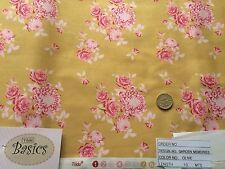 Tilda Garden Memories Olive Fabric 10m Rose crafting quilting Cotton material