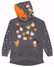 Girls Halloween Tsum Tsum Hoodie Long Sleeve Gray Sweatshirt S 6/6X Mickey Mouse
