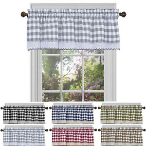 COUNTRY CURTAINS GREEN VELVET TAILORED VALANCE 13 X 86 POLYESTER