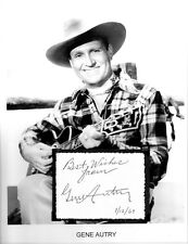 Gene Autry Autograph Show Back in the Saddle Again Santa Claus Anaheim Angels #2