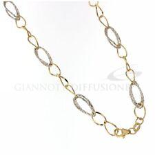 Girocollo oro giallo e bianco a catena lucido e martellato larghezza cm06 249,00