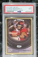 Pop 1 of 9💎2017 Patrick Mahomes SAGE HIT GOLD RC #43 PSA 9🔥BGS🔥1 Higher Prizm