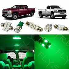 12x Green LED interior package for 2007-2013 Chevy Silverado & GMC Sierra CS3G