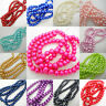 Glass Pearl Round Beads 4mm 6mm 8mm Bracelet Necklace Jewellery Making Craft UK