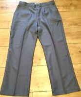DAXON Stone Grey adjustable waist smart slacks trousers petite 25L UK 14 EU 42