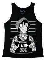 Twisted Punk Disney Aladdin Mugshot Ladies Vest Top gothic emo tattoo