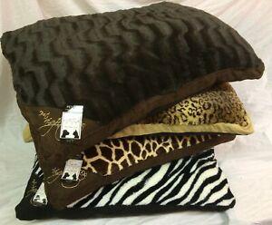 LARGE & Extra Large Fur Dog Bed Pet Animal Skin Washable Zipped Mattress Cushion
