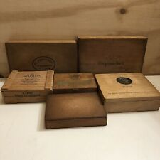 More details for 6 x great looking cigar boxes, various manufacturers.