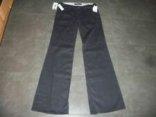 Flared Cotton Rise 34L Trousers for Women