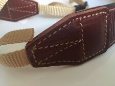 Genuine Leather Camera Neck Strap (Brown)