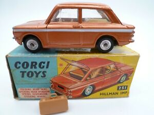 VINTAGE CORGI 251 HILLMAN IMP INC LUGGAGE IN ORIGINAL BOX ISSUED 1963-66